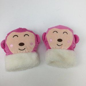 Kawaii Pink Monkey Hand Warmers Fingerless Gloves